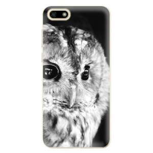 Silikonové odolné pouzdro iSaprio - BW Owl na mobil Huawei Y5 2018