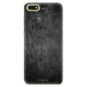Silikonové odolné pouzdro iSaprio - Black Wood 13 na mobil Honor 7S