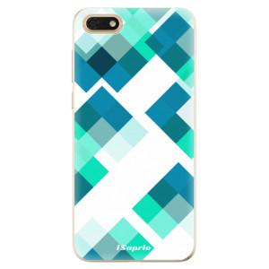 Silikonové odolné pouzdro iSaprio - Abstract Squares 11 na mobil Honor 7S