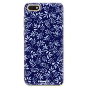 Silikonové odolné pouzdro iSaprio - Blue Leaves 05 na mobil Honor 7S