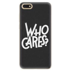 Silikonové odolné pouzdro iSaprio - Who Cares na mobil Honor 7S