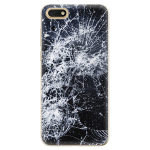 Silikonové odolné pouzdro iSaprio - Cracked na mobil Honor 7S