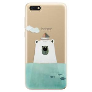 Silikonové odolné pouzdro iSaprio - Bear With Boat na mobil Honor 7S