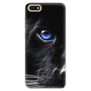 Silikonové odolné pouzdro iSaprio - Black Puma na mobil Honor 7S