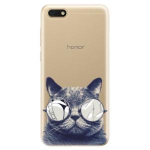 Silikonové odolné pouzdro iSaprio - Crazy Cat 01 na mobil Honor 7S