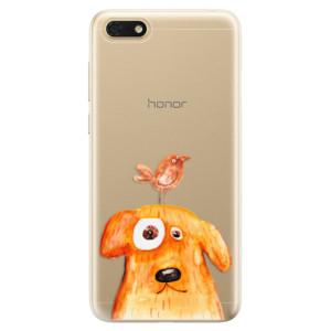 Silikonové odolné pouzdro iSaprio - Dog And Bird na mobil Honor 7S