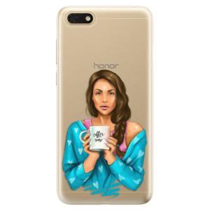 Silikonové odolné pouzdro iSaprio - Coffe Now - Brunette na mobil Honor 7S