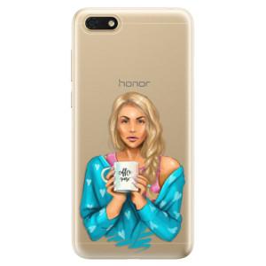 Silikonové odolné pouzdro iSaprio - Coffe Now - Blond na mobil Honor 7S