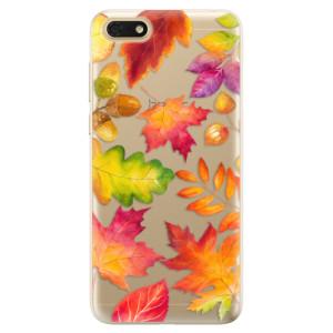 Silikonové odolné pouzdro iSaprio - Autumn Leaves 01 na mobil Honor 7S