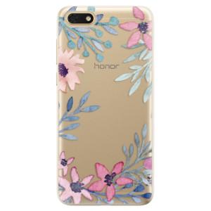 Silikonové odolné pouzdro iSaprio - Leaves and Flowers na mobil Honor 7S