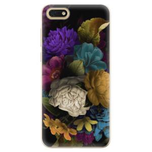 Silikonové odolné pouzdro iSaprio - Dark Flowers na mobil Honor 7S