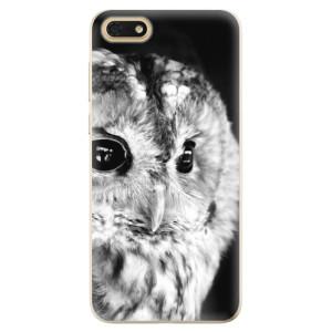 Silikonové odolné pouzdro iSaprio - BW Owl na mobil Honor 7S