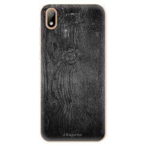 Silikonové odolné pouzdro iSaprio - Black Wood 13 na mobil Huawei Y5 2019