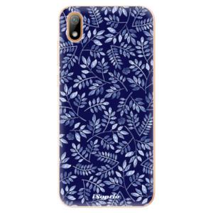 Silikonové odolné pouzdro iSaprio - Blue Leaves 05 na mobil Huawei Y5 2019