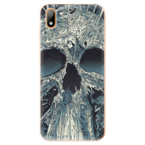 Silikonové odolné pouzdro iSaprio - Abstract Skull na mobil Huawei Y5 2019