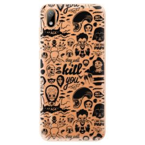 Silikonové odolné pouzdro iSaprio - Comics 01 - black na mobil Huawei Y5 2019
