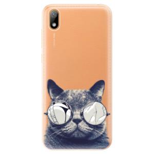 Silikonové odolné pouzdro iSaprio - Crazy Cat 01 na mobil Huawei Y5 2019