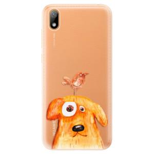Silikonové odolné pouzdro iSaprio - Dog And Bird na mobil Huawei Y5 2019