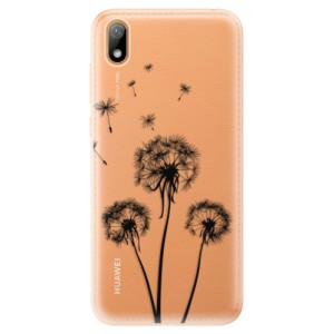 Silikonové odolné pouzdro iSaprio - Three Dandelions - black na mobil Huawei Y5 2019