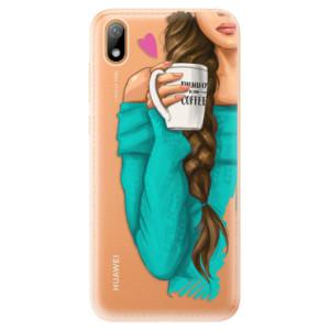 Silikonové odolné pouzdro iSaprio - My Coffe and Brunette Girl na mobil Huawei Y5 2019