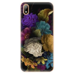 Silikonové odolné pouzdro iSaprio - Dark Flowers na mobil Huawei Y5 2019