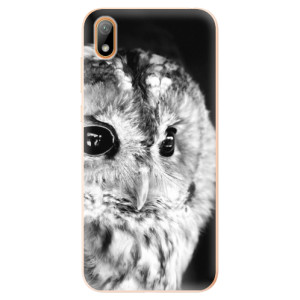 Silikonové odolné pouzdro iSaprio - BW Owl na mobil Huawei Y5 2019