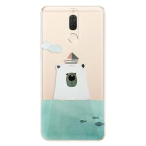 Silikonové odolné pouzdro iSaprio - Bear With Boat na mobil Huawei Mate 10 Lite