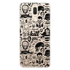 Silikonové odolné pouzdro iSaprio - Comics 01 - black na mobil Huawei Mate 10 Lite