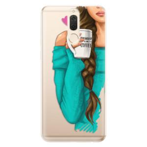 Silikonové odolné pouzdro iSaprio - My Coffe and Brunette Girl na mobil Huawei Mate 10 Lite