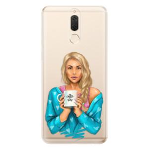 Silikonové odolné pouzdro iSaprio - Coffe Now - Blond na mobil Huawei Mate 10 Lite