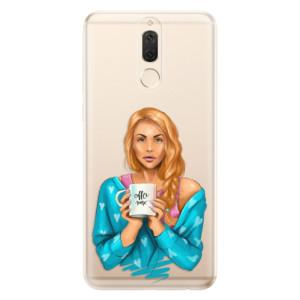 Silikonové odolné pouzdro iSaprio - Coffe Now - Redhead na mobil Huawei Mate 10 Lite