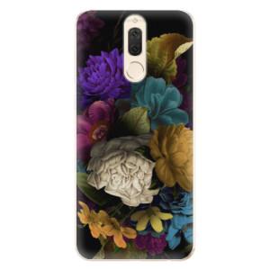 Silikonové odolné pouzdro iSaprio - Dark Flowers na mobil Huawei Mate 10 Lite