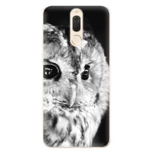 Silikonové odolné pouzdro iSaprio - BW Owl na mobil Huawei Mate 10 Lite