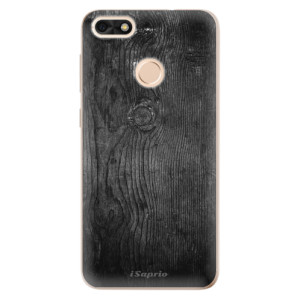 Silikonové odolné pouzdro iSaprio - Black Wood 13 na mobil Huawei P9 Lite Mini