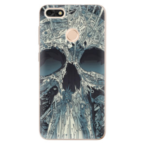 Silikonové odolné pouzdro iSaprio - Abstract Skull na mobil Huawei P9 Lite Mini