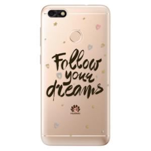 Silikonové odolné pouzdro iSaprio - Follow Your Dreams - black na mobil Huawei P9 Lite Mini