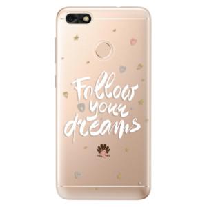 Silikonové odolné pouzdro iSaprio - Follow Your Dreams - white na mobil Huawei P9 Lite Mini