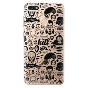 Silikonové odolné pouzdro iSaprio - Comics 01 - black na mobil Huawei P9 Lite Mini