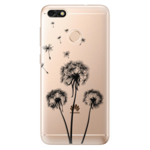 Silikonové odolné pouzdro iSaprio - Three Dandelions - black na mobil Huawei P9 Lite Mini
