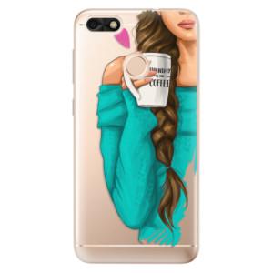 Silikonové odolné pouzdro iSaprio - My Coffe and Brunette Girl na mobil Huawei P9 Lite Mini