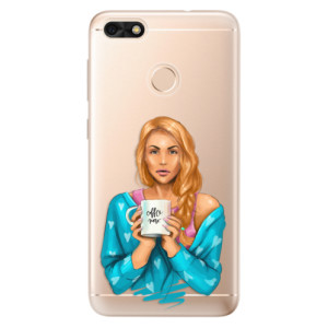 Silikonové odolné pouzdro iSaprio - Coffe Now - Redhead na mobil Huawei P9 Lite Mini