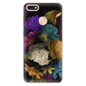 Silikonové odolné pouzdro iSaprio - Dark Flowers na mobil Huawei P9 Lite Mini