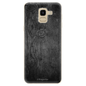 Silikonové odolné pouzdro iSaprio - Black Wood 13 na mobil Samsung Galaxy J6
