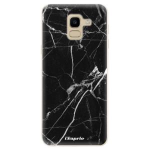 Silikonové odolné pouzdro iSaprio - Black Marble 18 na mobil Samsung Galaxy J6