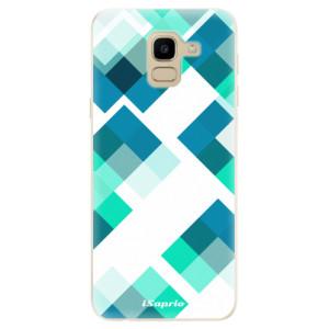 Silikonové odolné pouzdro iSaprio - Abstract Squares 11 na mobil Samsung Galaxy J6