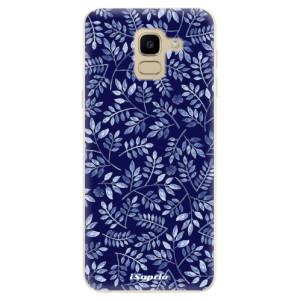 Silikonové odolné pouzdro iSaprio - Blue Leaves 05 na mobil Samsung Galaxy J6
