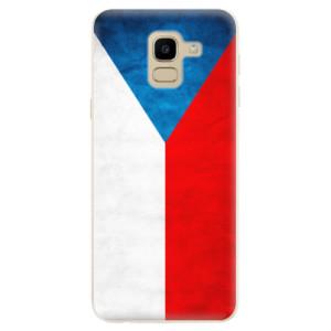 Silikonové odolné pouzdro iSaprio - Czech Flag na mobil Samsung Galaxy J6
