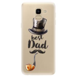 Silikonové odolné pouzdro iSaprio - Best Dad na mobil Samsung Galaxy J6