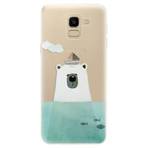 Silikonové odolné pouzdro iSaprio - Bear With Boat na mobil Samsung Galaxy J6