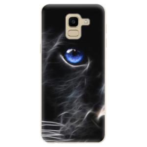Silikonové odolné pouzdro iSaprio - Black Puma na mobil Samsung Galaxy J6